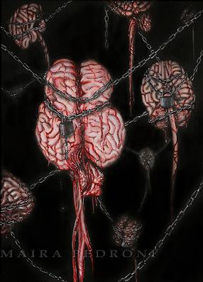 """""""Contain Creativity"""" ...2010 acrylic on canvas"""