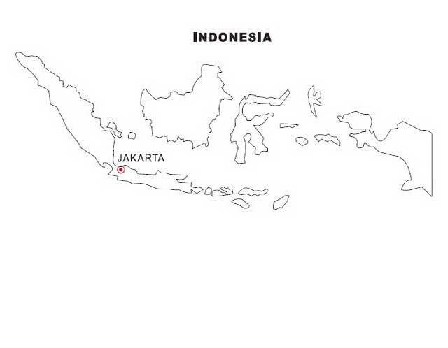 Indonesian Map Coloring Page Coloring Pages