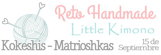 Reto handmade Little Kimono: KOKESHI - MATRIOSHKA.
