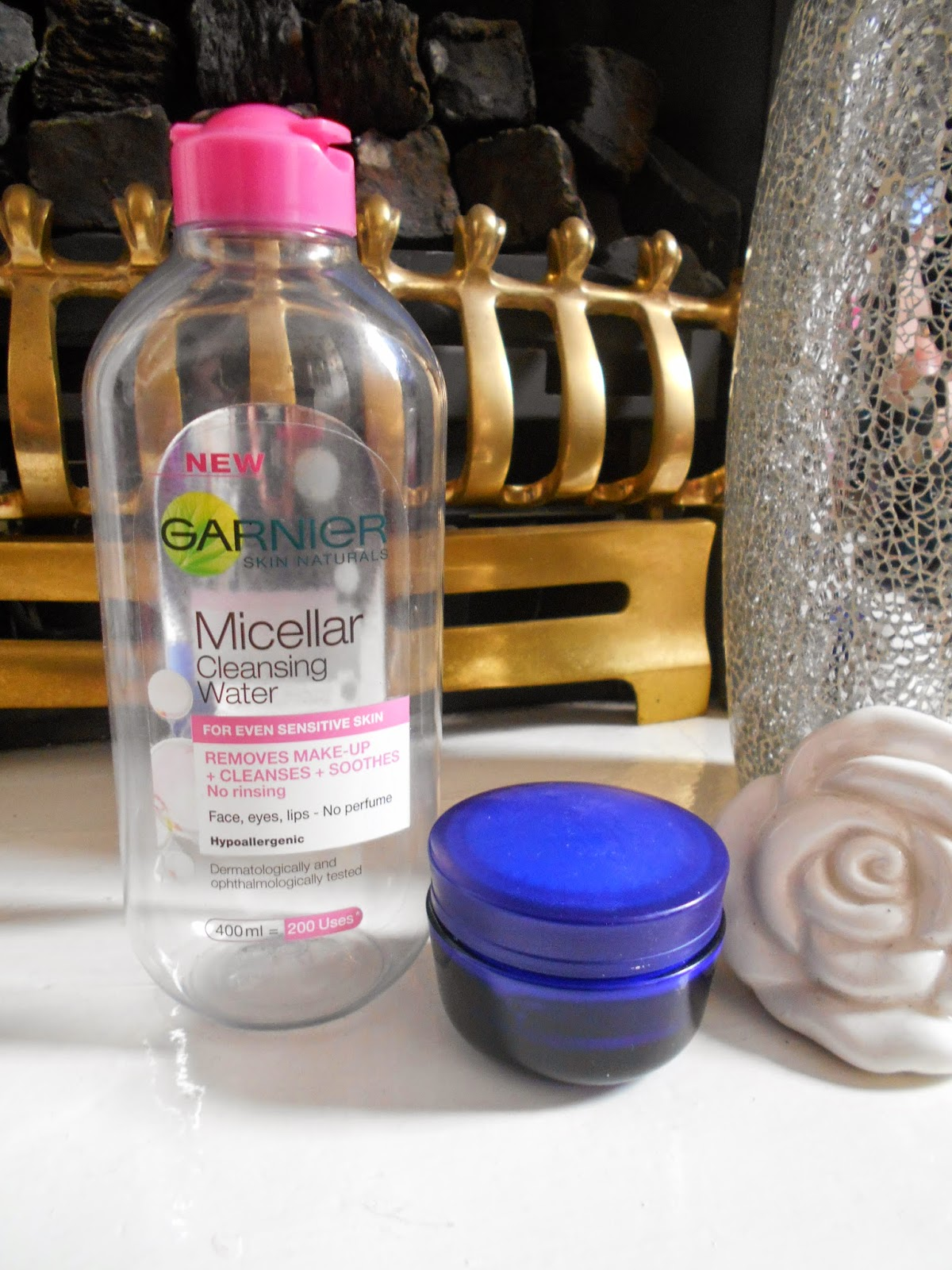 Garnier Micellar Cleansing Water and Nivea Night Cream