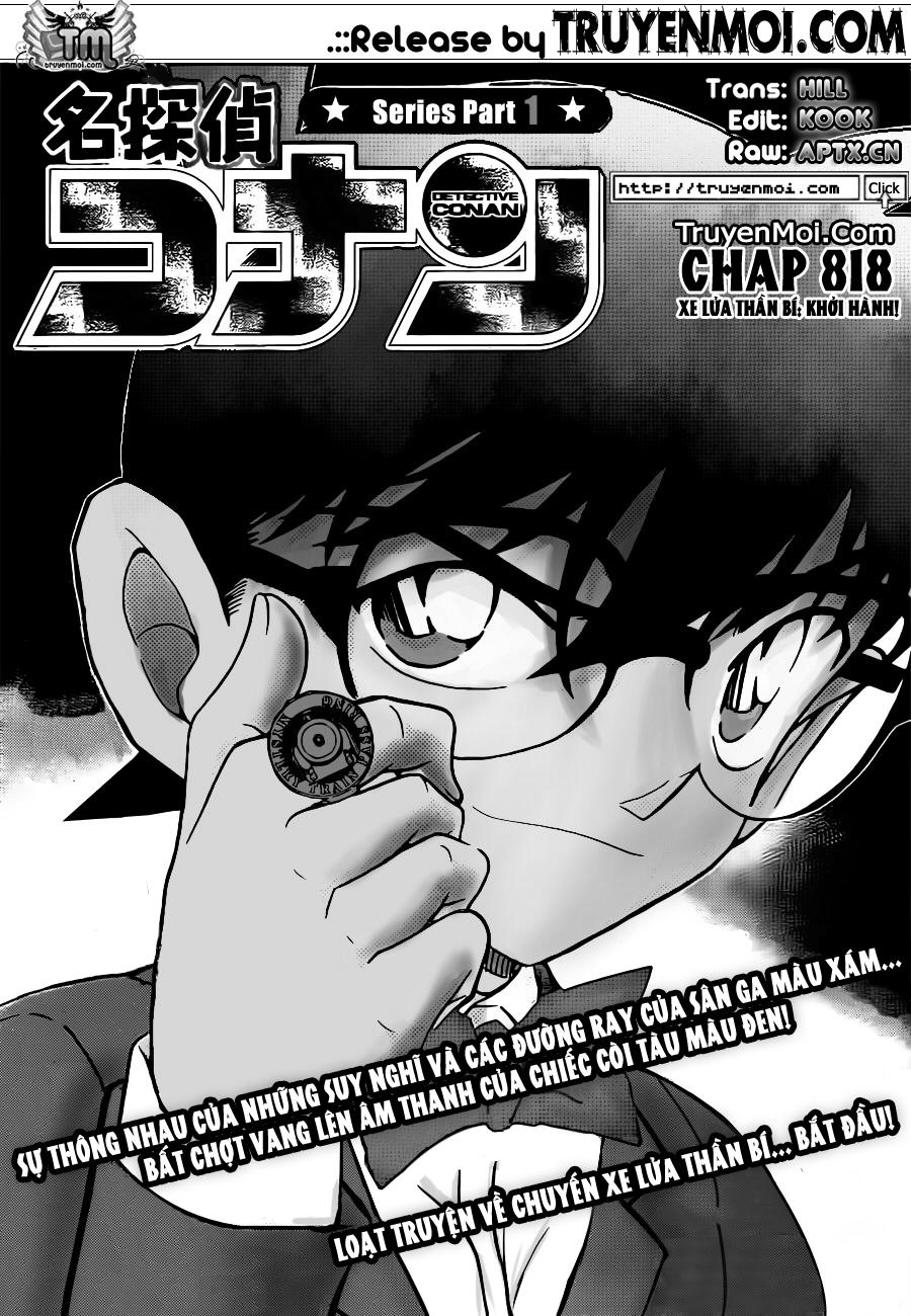 Detective Conan - Thám Tử Lừng Danh Conan chap 818 page 1 - IZTruyenTranh.com
