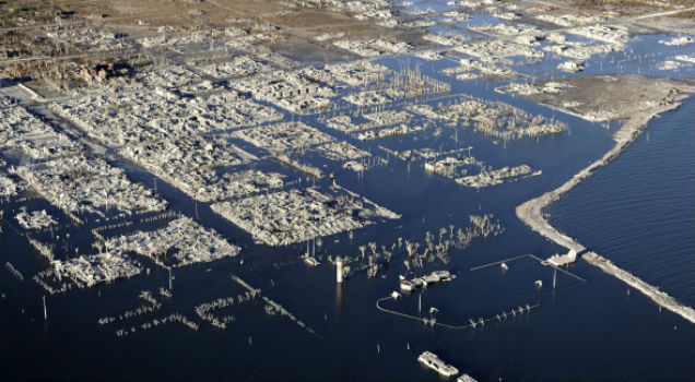 Cidade submersa de epecuen na argentina