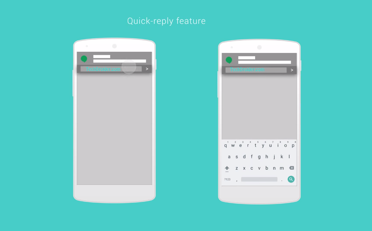 Android 6.0 Muffin Quick reply feature - TechDroider