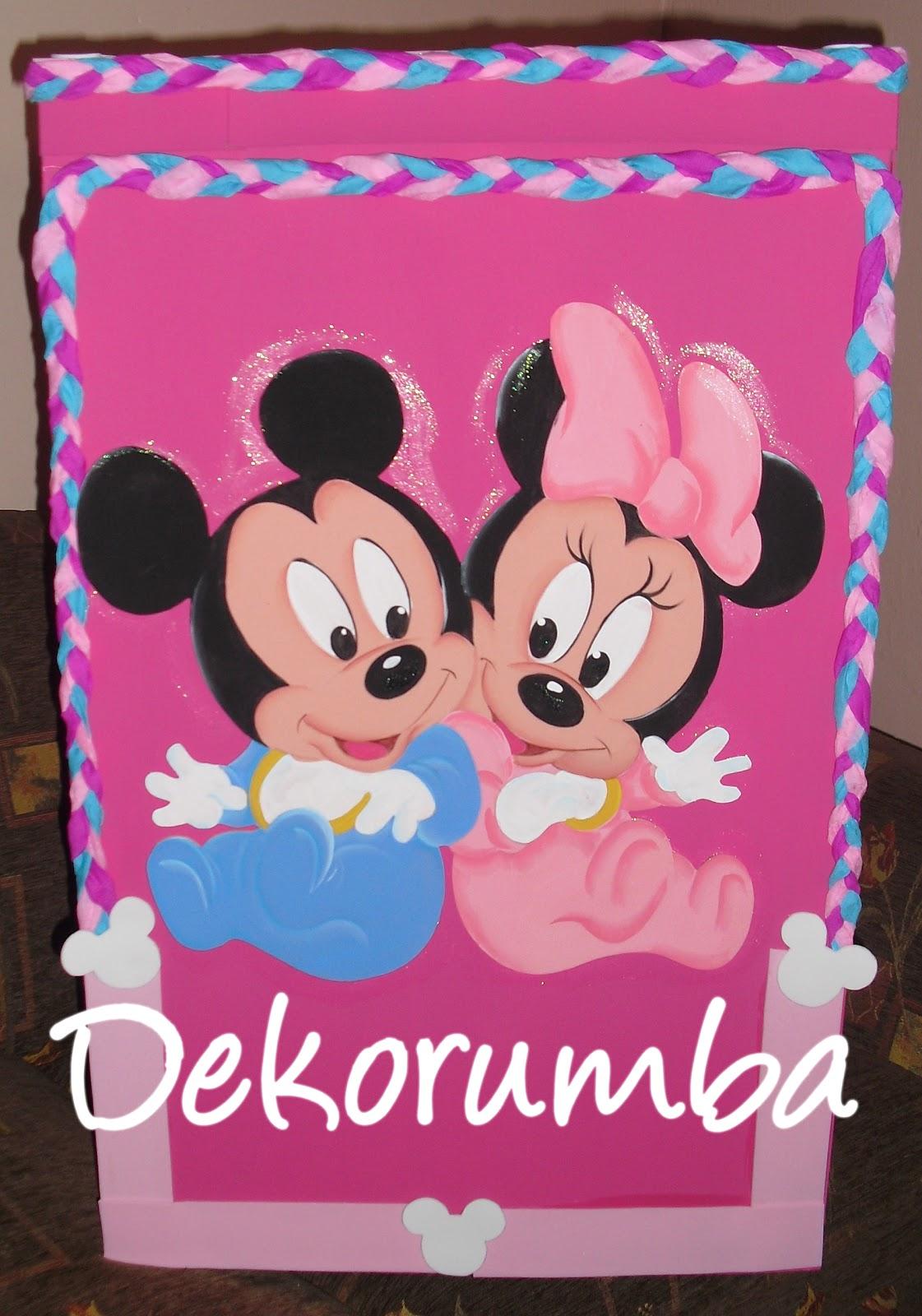 Dekorumba: Caja de Regalos- Minnie y Mickey Bebes