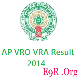 AP VRA VRO Result 2014 Exam Cut Off Marks Download at ccla.cgg.gov.in, Manabadi