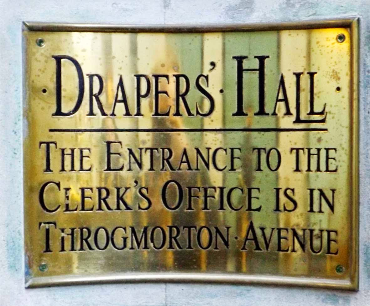 drapers hall sign london