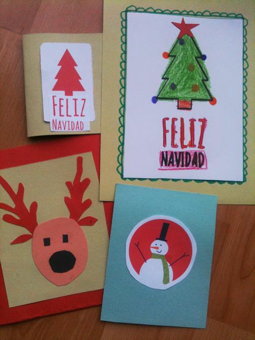 Dibujos para colorear tarjetas navide as caseras - Hacer una tarjeta navidena ...