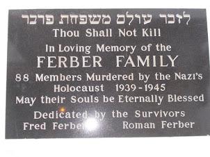 """Holocaust memorial plaque at ""Remuh Synagogue"" in Krakow."