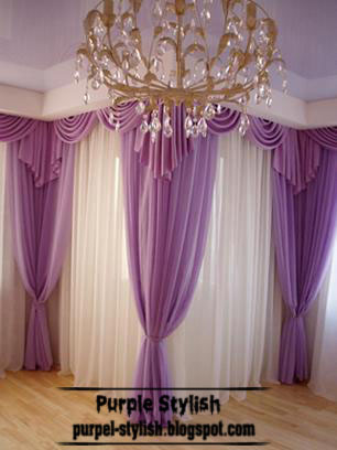 Purple Curtain For Living Room Modern Style Purple Stylish