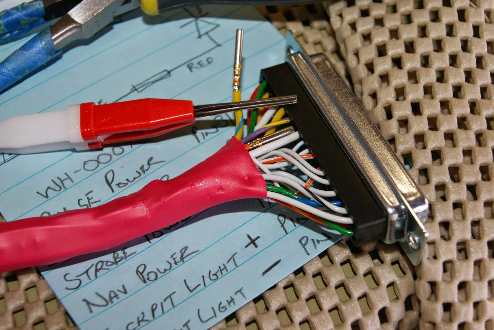 DOG Aviation John\'s RV-12 Blog: WH-00045 Wire Harness Installed