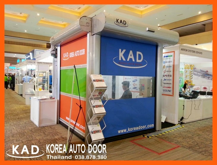 KAD high speed door exhibits ประตูอัตโนมัติความเร็วสูง in allpack indonesia