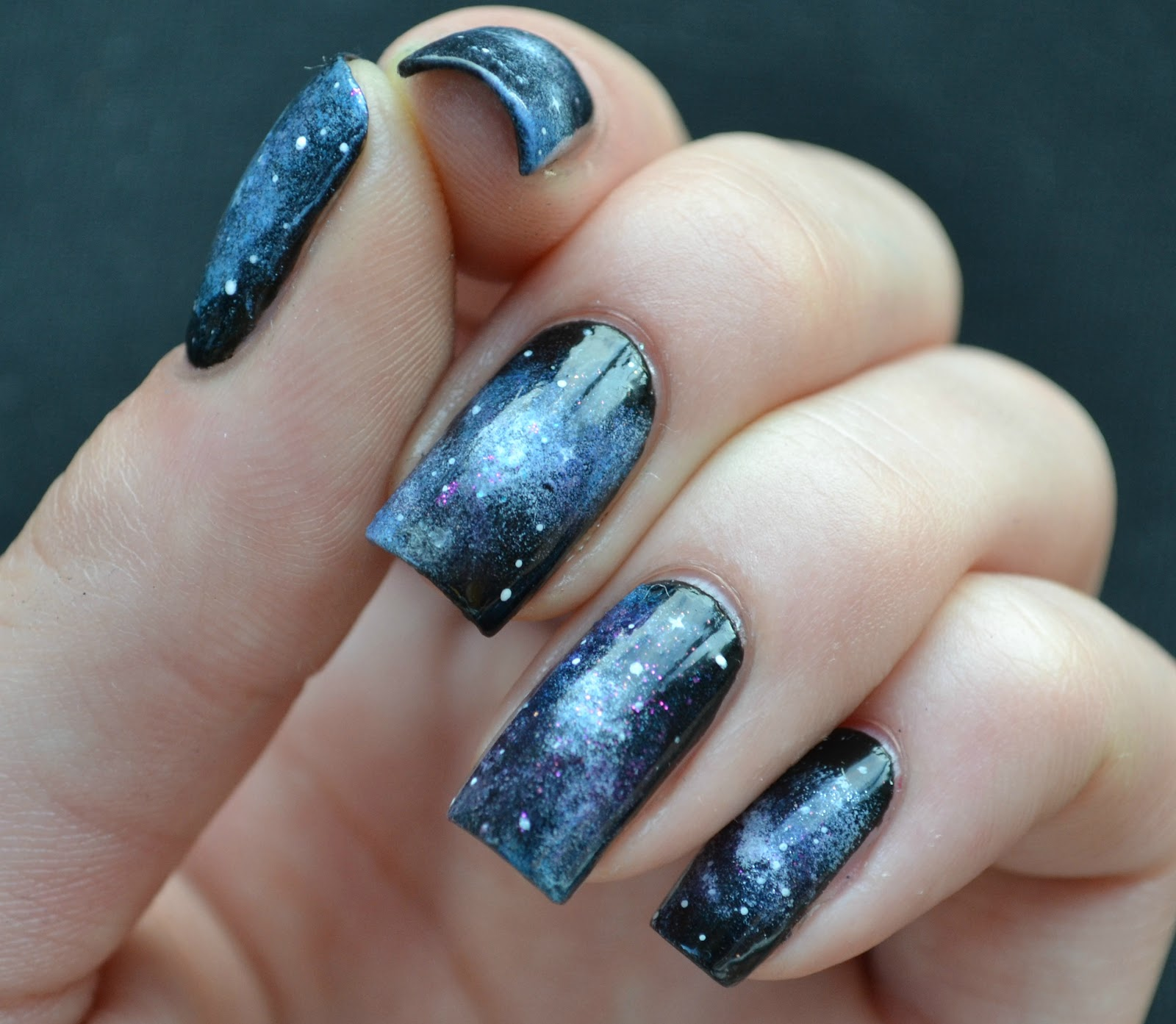 Starfish on the Beach: 31 Day Nail Art Challenge --- Day 19, Galaxies