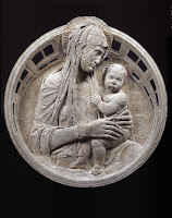 Donatello, tondo con Madonna col Bambino e quattro cherubini