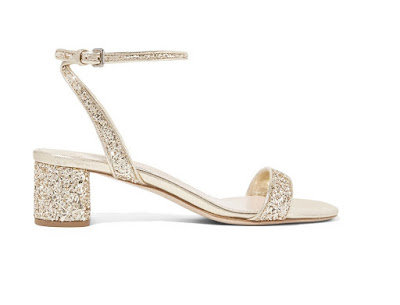 Miu Miu glitter low heeled sandals