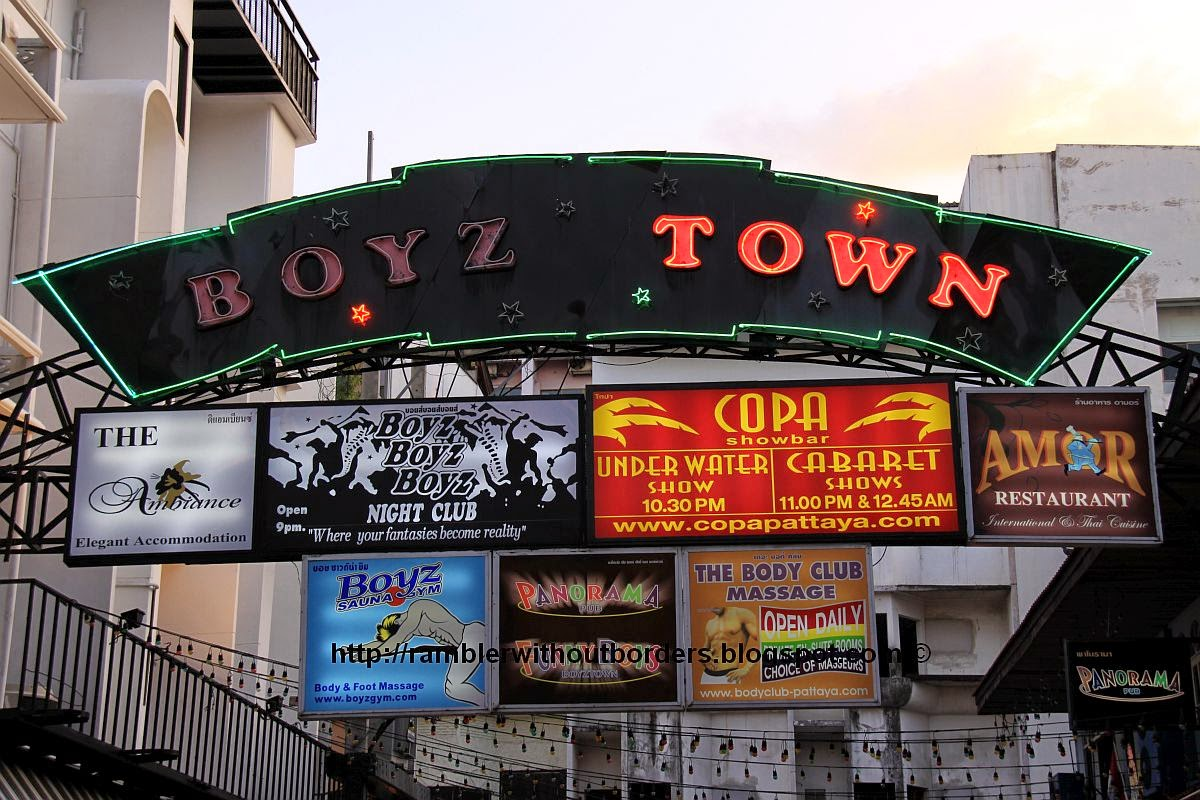 Boyztown sign, Pattaya, Thailand