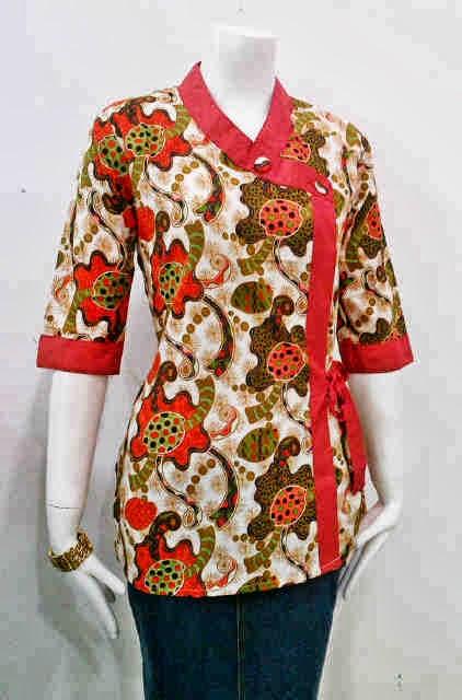 gambar baju batik wanita untuk kerja
