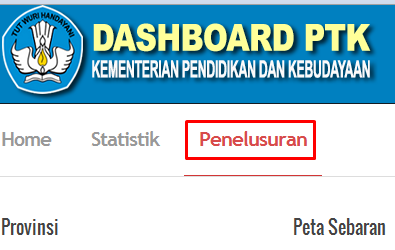 Dashboard PTK Data Referensi Pendidikan PDSP