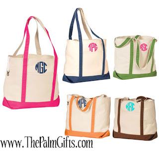 Monogrammed beach Tote Bags, Monogrammed beach bags