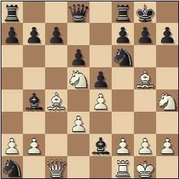 Partida de ajedrez Nina Esteban vs. María Luisa Martín Gamero, posición después de 12…Ae2??