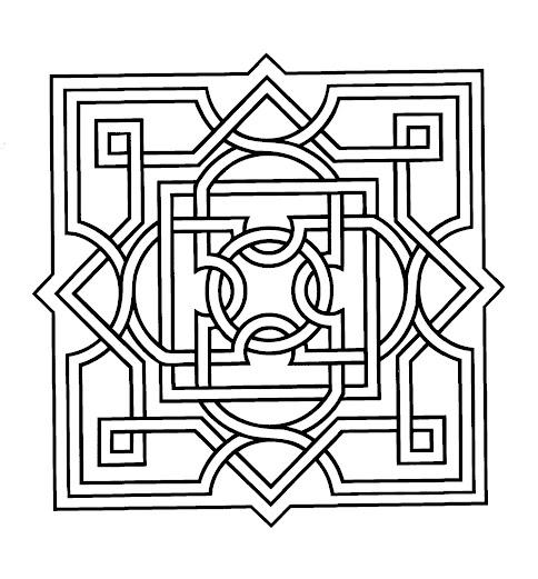 Mandalas Cuadrados para Pintar   Mandalas Para Pintar