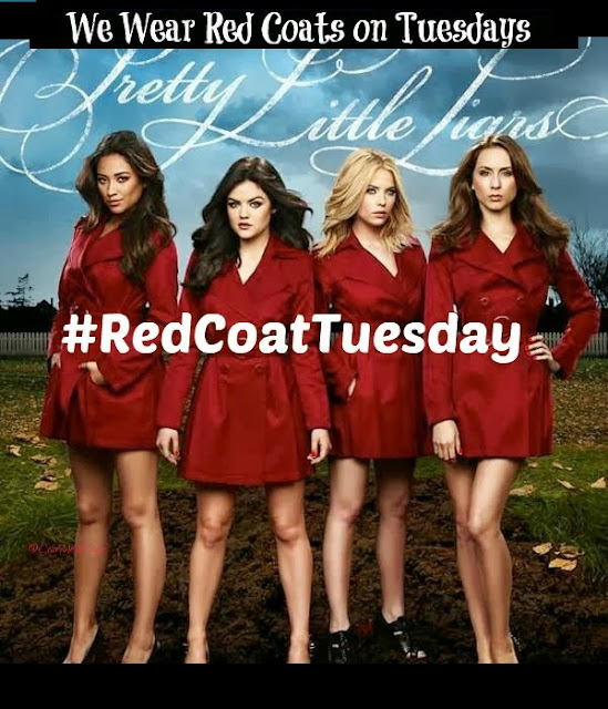 #RedCoatTuesday, Pretty Little Liars, beauty blogger linkup, Ruffian Red nail lacquer, nail polish, nail varnish, nails, manicure