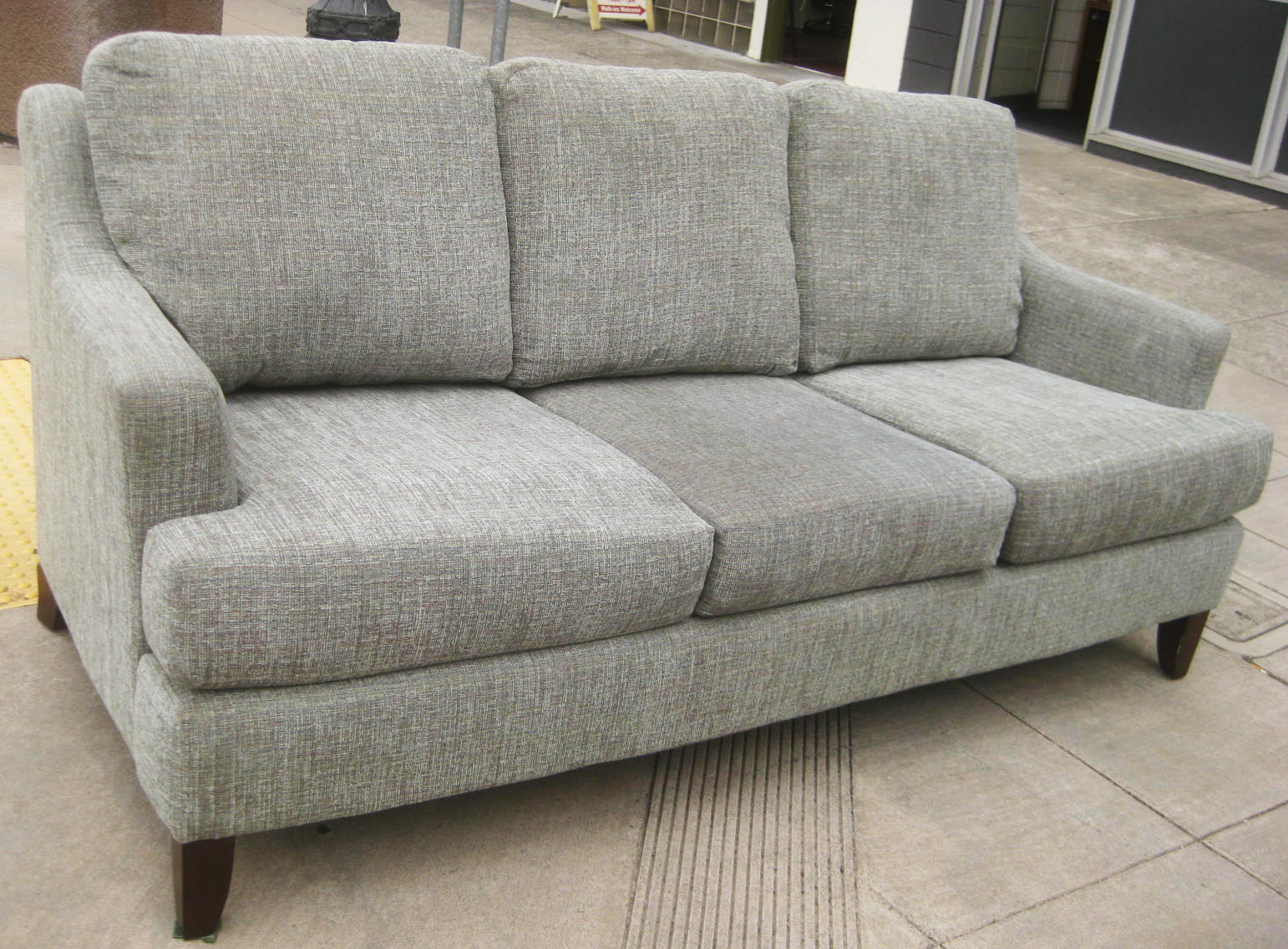 Uhuru furniture collectibles sold comfy gray sofa 145 for Grey comfy chair