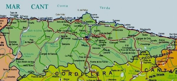 Alevia Spain  city photo : Mapa de Asturias Imagen | Mapa de España Provincias Politico