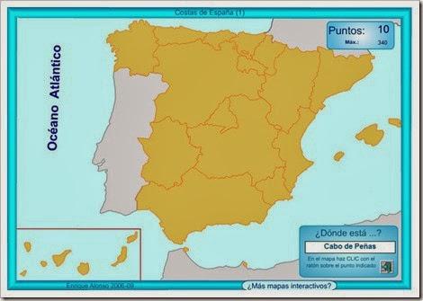 Mapa costas España.