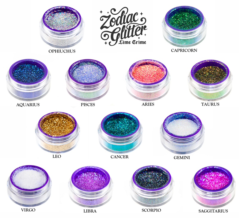 lime crime zodiac glitter review and swatches part 1 nailed it