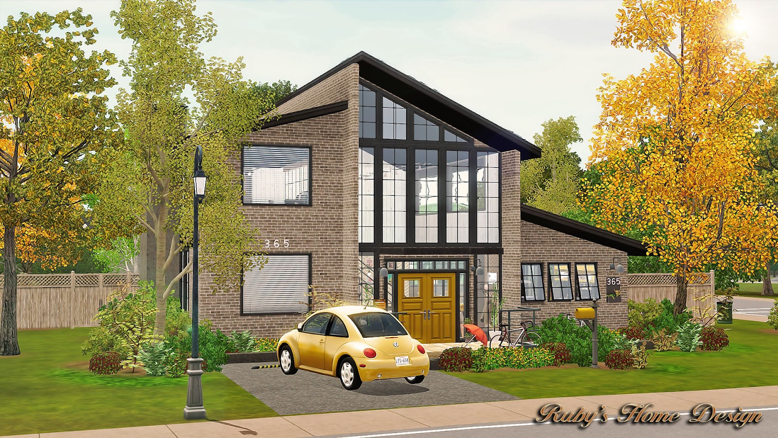 sims3 mellow yellow ruby u0027s home design