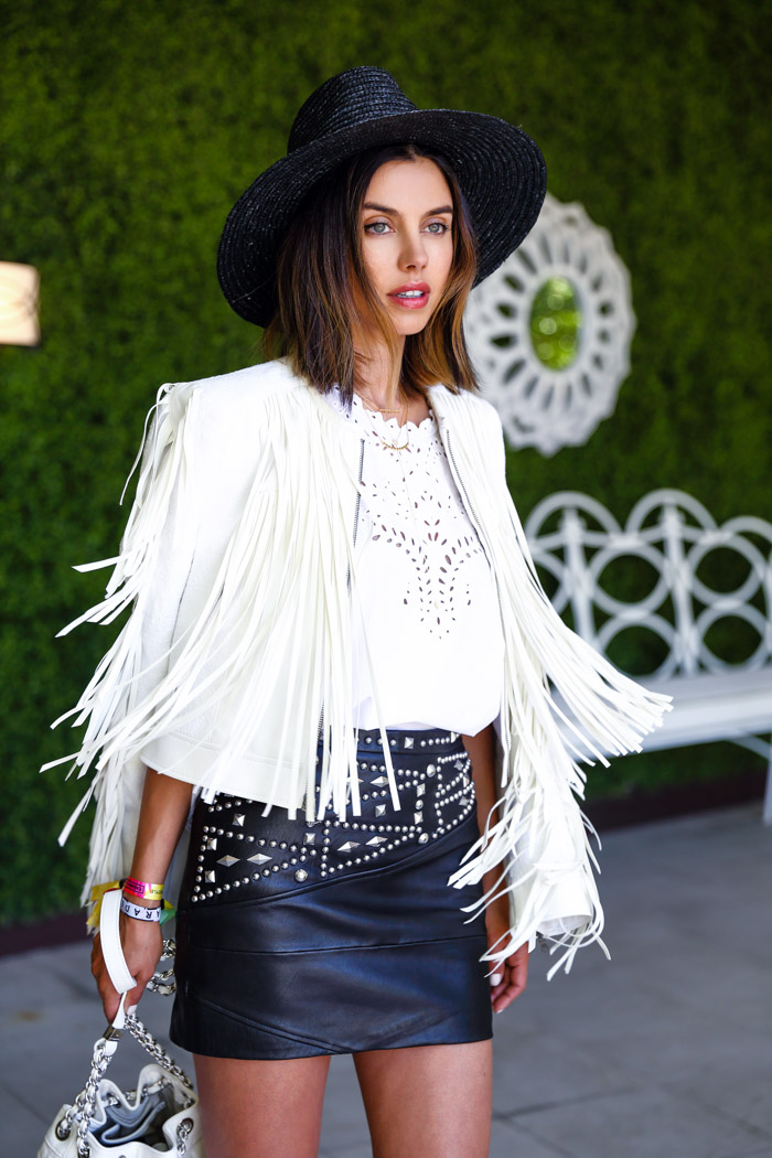 BCBGMAXAZRIA Farrell zip fringe jacket, Coachella fringe jacket