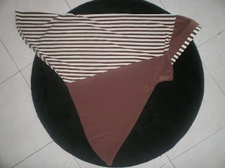TUDUNG STRIPE(BELANG-Dark Cocolate) Offer $15.90