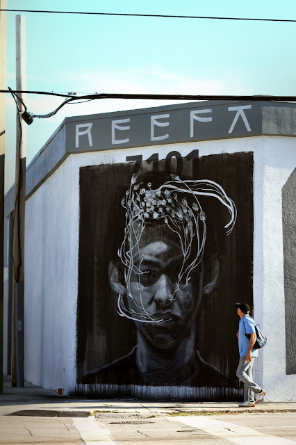 """Tribute To Reefa"" Street Art By Axel Void In Miami USA."