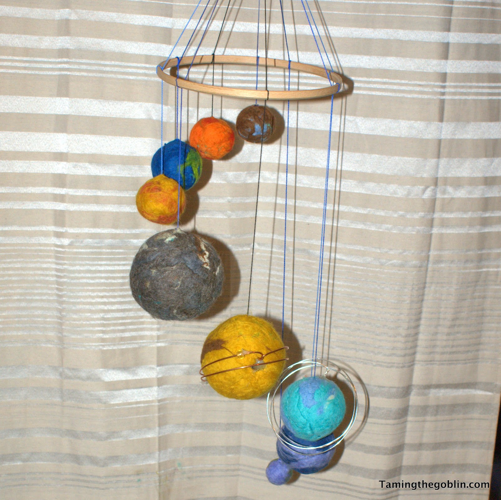 handmade solar system mobile - photo #7