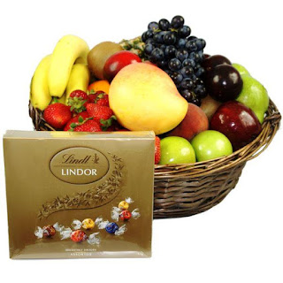 Fruit Hamper with a box of chocolates