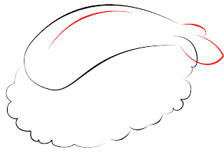 How To Draw Kawaii Sushi Step 8