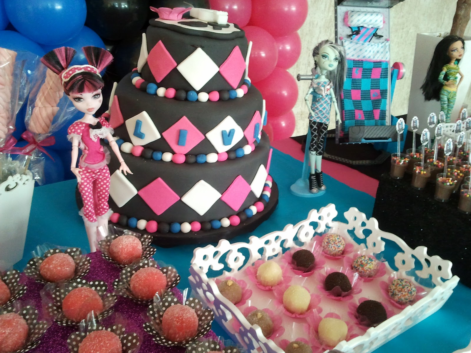 Festa Monster High - Tudo em Decoração Festa Monster High