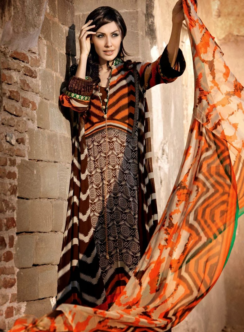 Gul Ahmed New Latest Summer Lawn Collection 2013-14 For Women And Girls