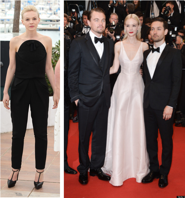 Carey Mulligan at the Cannes 2013 Festival event in Balenciaga, and Dior Couture.
