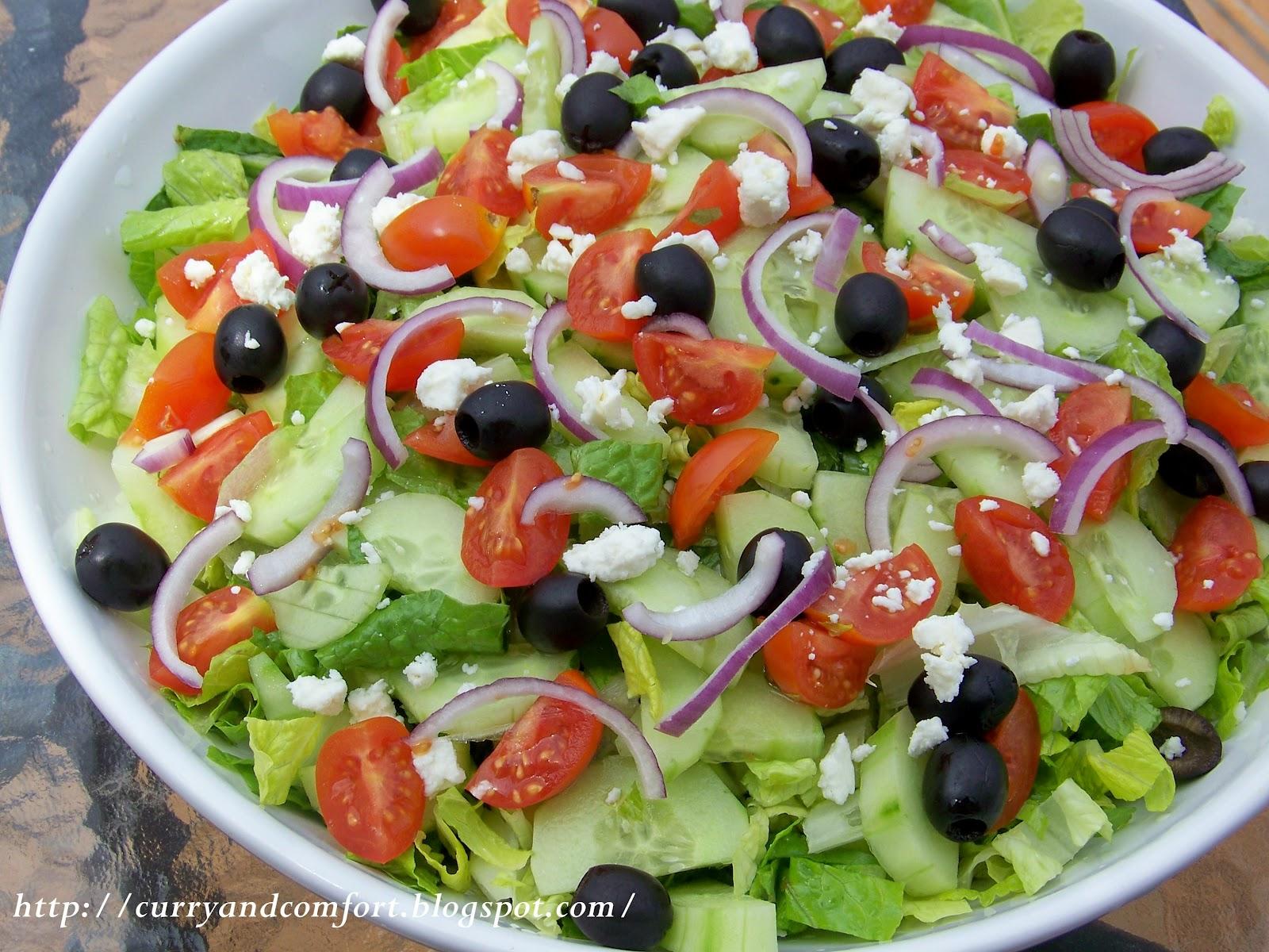 Greek Salad with Creamy Dressing