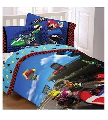 Discount comforter sets super mario brothers twin for Super cheap bedroom sets