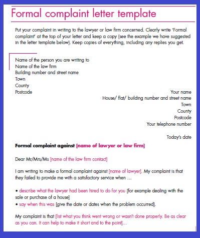 Complaint letter template how do i write a letter of complaint tutorial with pictures altavistaventures Choice Image