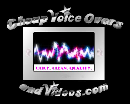 Cheap voice overs and videos for Cheap logo