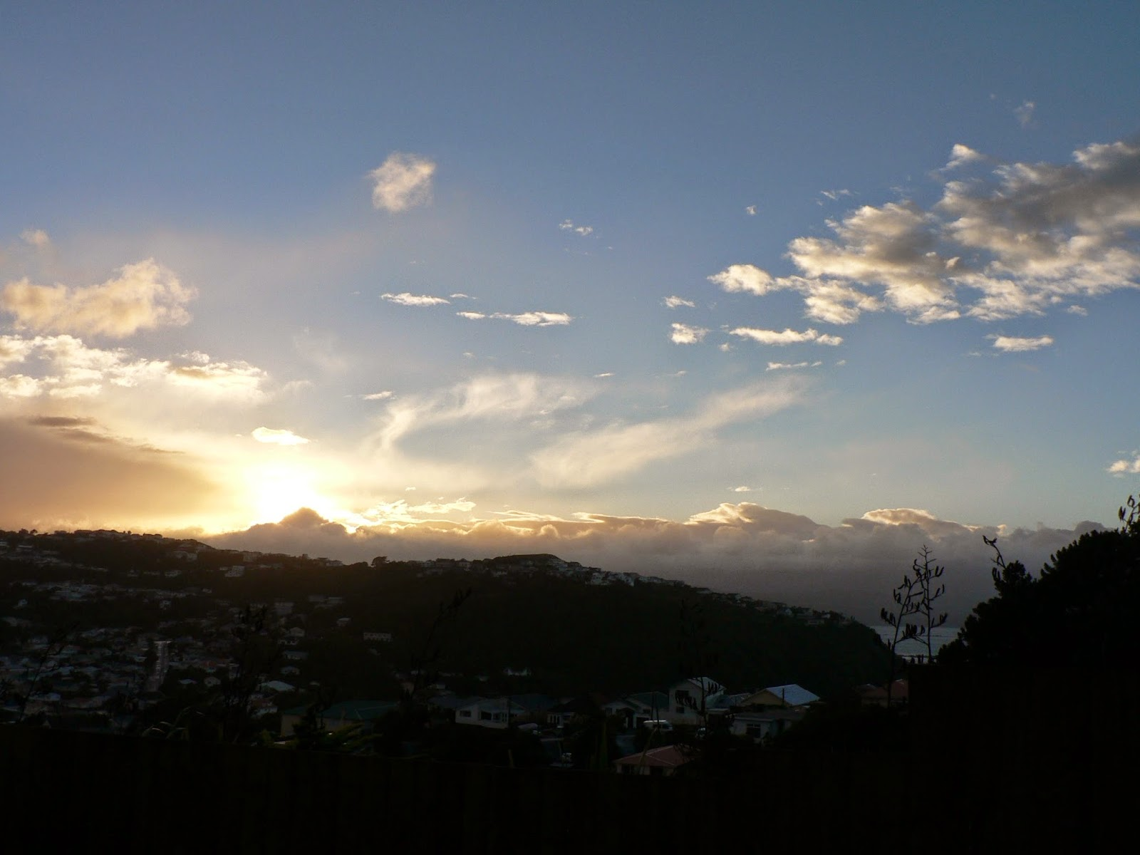 Sunrise view from our apartment in New Zealand