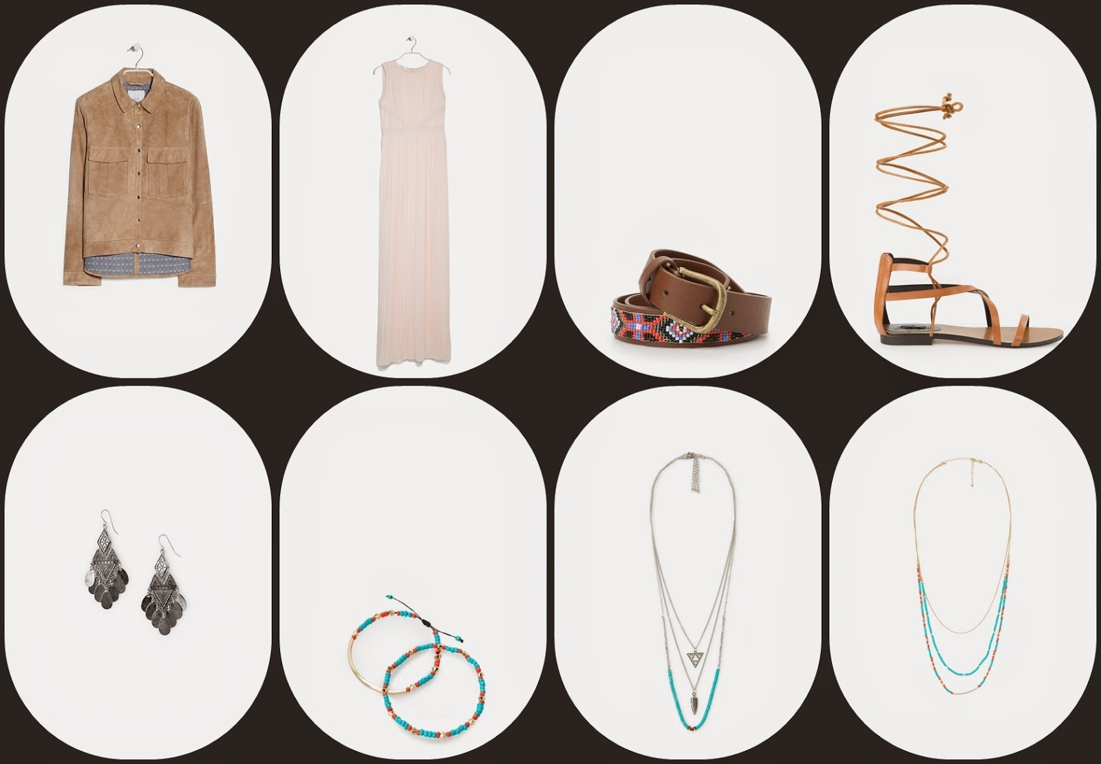 Yves Saint Laurent - Conjunto com roupa da Mango - coleção 2015