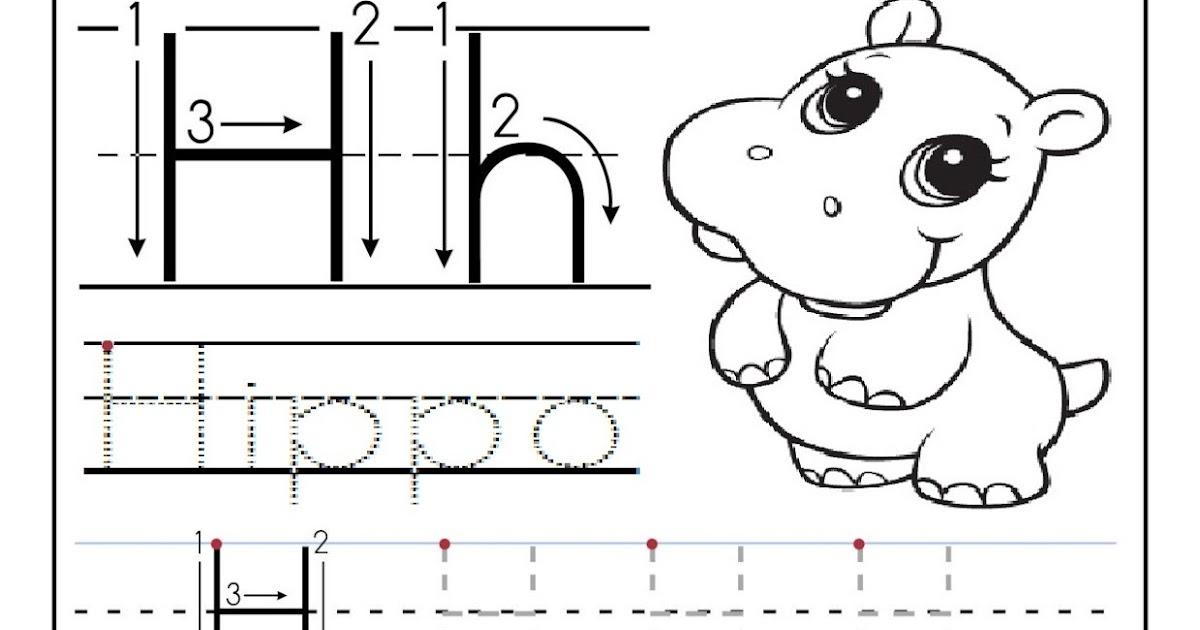 Letter H Worksheets : Letter h worksheets printable