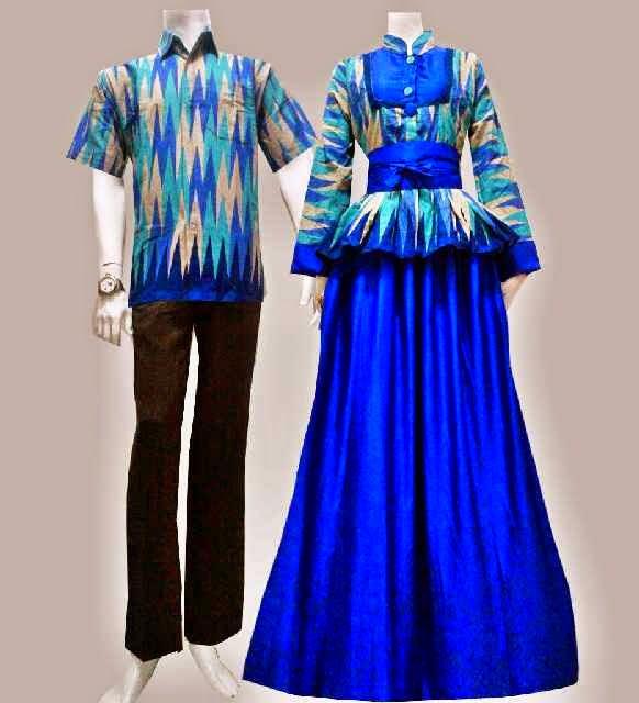 baju batik rangrang kombinasi brokat modern terbaru model baju batik ...