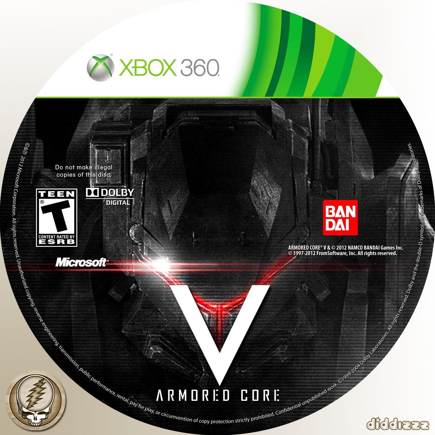 Label Armored Core V Xbox 360