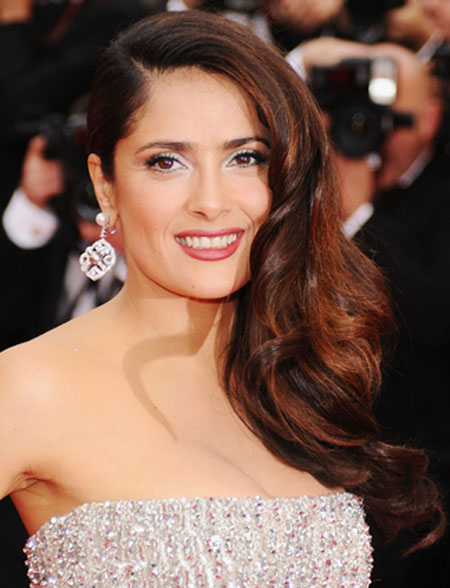 Salma Hayek Big & Sexy Hairstyles