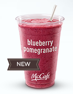 Try McDonald's New McDonald's new Blueberry Pomegranate Smoothie for only $1